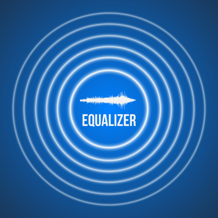 soundwave: Illustration of Vector Pulse Music Equalizer Background. Audio Wave Equalizer Template