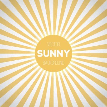 abstrakte muster: Illustration der Sunburst Hintergrund. Sunny Stripes Vector Illustration Illustration