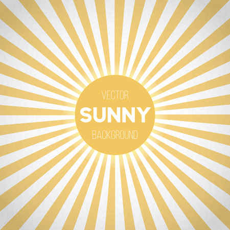 vintage backgrounds: Illustration of Sunburst Background. Sunny Stripes Vector Illustration