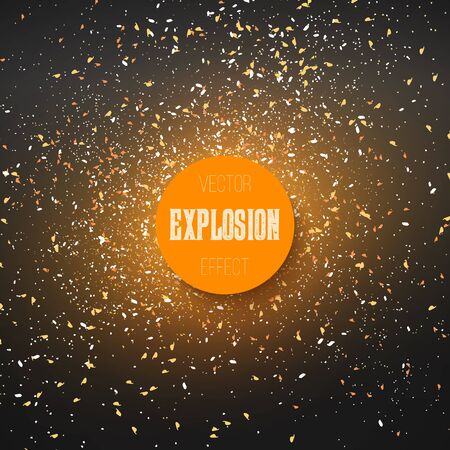 Nebula on Outer Space Vector Explosion Effect. Holiday Confetti Explosion Illustration