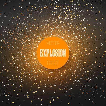 Nebel über Weltraumgrafik Explosionseffekt. Ferien Konfetti Explosion