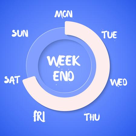 Illustration of Week Loading Vector Illustration.