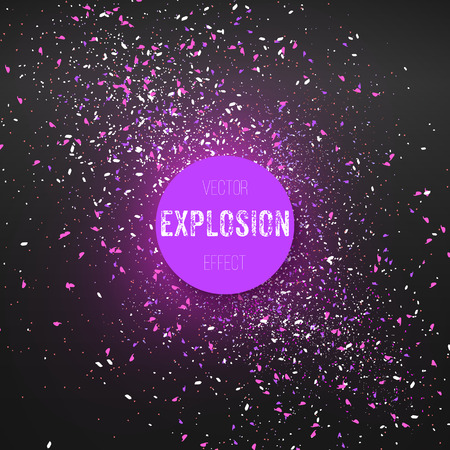 Confetti Particle Fragments with Vector Explosion Effect Illustration