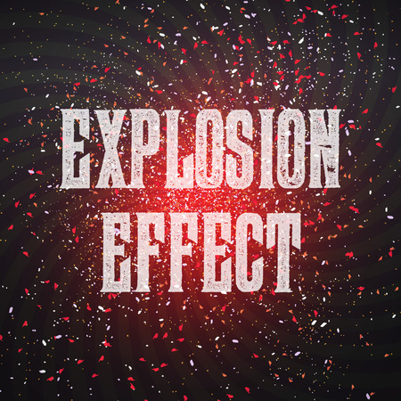 cold war: Illustration of Vector Confetti Explosion Effect on Dark Outer Space Background. Star Exlosion in Space Universe