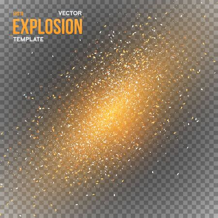Illustration of Vector Confetti Explosion Special Effect Isolated on Transparent PS Style Background. Dark Outer Space Overlay Star Explosion in Universe Illustration