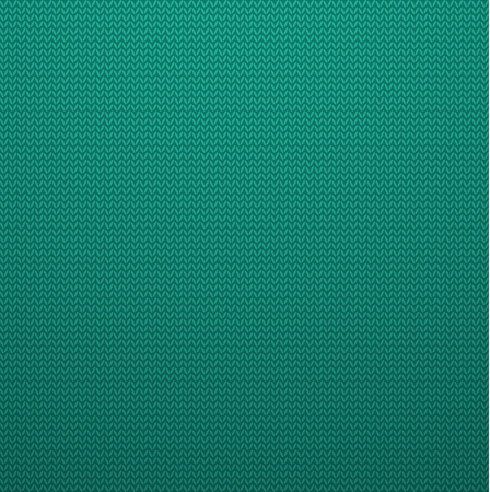 Illustratie van gebreide Style Mint Color naadloos patroon. Vector naadloos patroon in gebreide wol doek Style