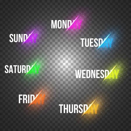 days: Illustration of Week Days Sale Concept