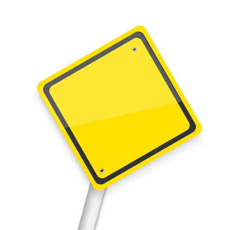 danger do not cross: Illustration of Vector Road Sign. Realistic Vector Yellow Isolated Road Sign