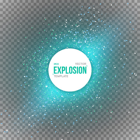 bomb explosion: Illustration of Confetti Explosion Special Effect