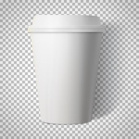 Ilustración de la taza de café aislados en fondo transparente PS estilo.