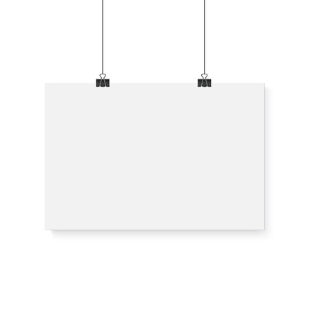 sheet of paper: Illustration of Blank white board