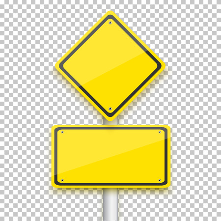 blank sign: Illustration of Vector Road Yellow Sign