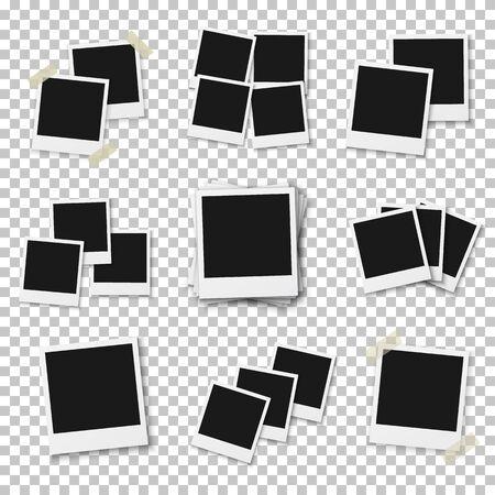 Illustration Of Blank Vintage Photo Frame Mockup Isolated On ...