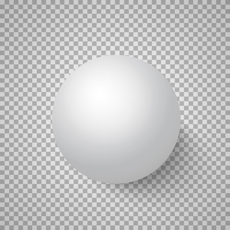 ps: Illustration of Photorealistic Vector 3D Ball Template. Bright Colors Vector Ball Isolated on Transparent PS Style Background