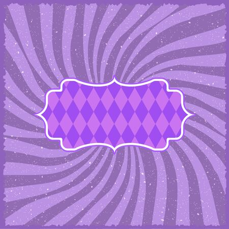 show bussiness: Illustration of Vintage Circus Background. Retro Style Carnival Festival Sunburst Effect Vector Template