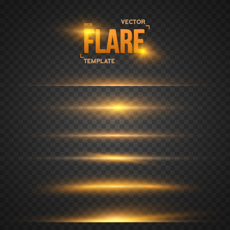 Illustration of Flare Effect. Transparent Overlay Lens Flare Ray Effect. Bright Sunflare Explosion Template
