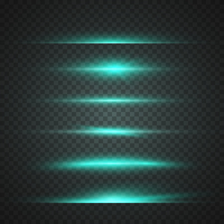 Illustration von Flare Effekt. Transparent Overlay Lens Flare Ray Effect. Helle Sunflare Explosion Vorlage