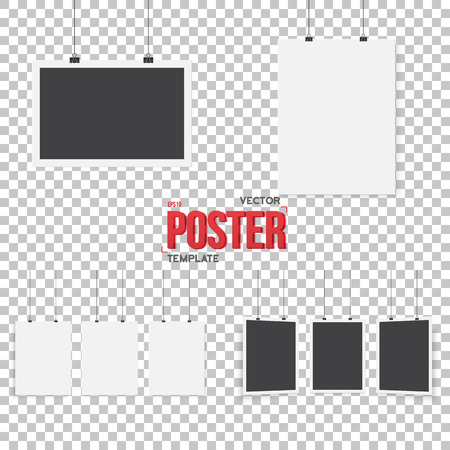 Illustration of Isolated  Poster Mockup Set.