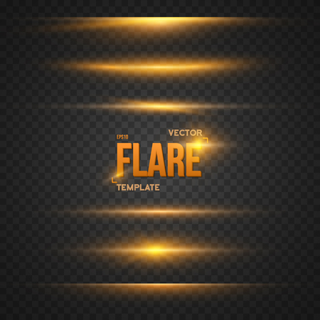 Illustration of  Flare Effect.   Bright Sun flare Explosion Template