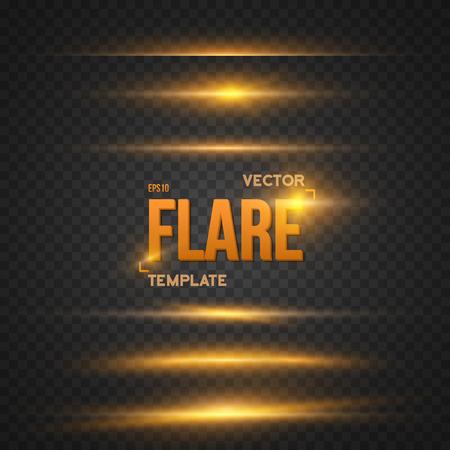 Illustration von Sun Lens Flare-Effekt. Transparent Overlay Lens Flare Ray Effect. Helle Sunflare Explosion Vorlage