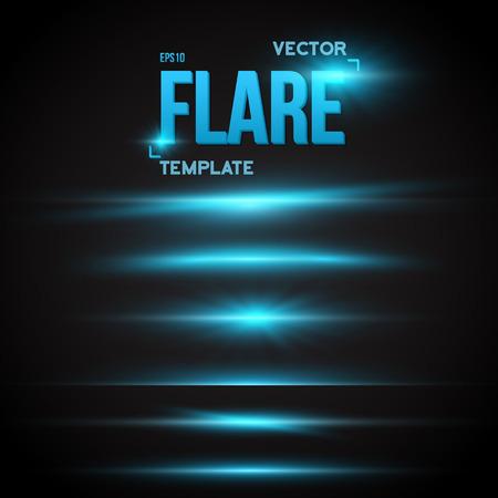 Illustration von Vector Sun Lens Flare-Effekt. Transparent Vector Overlay Lens Flare Ray Effect. Helle Sunflare Explosion Vorlage