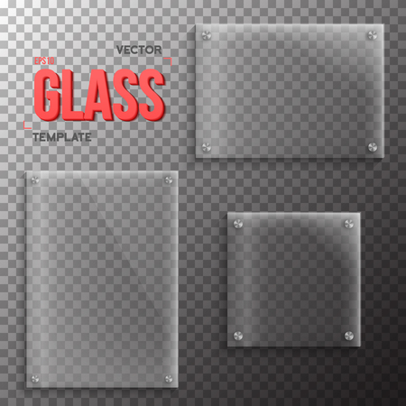 Illustration of Set of Realistic Glass Plate Template. Plastic Plate Set Isolated on Transparent PS Style Background