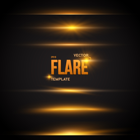 Illustration of Vector Flare Effect. Transparent Vector Overlay Lens Flare Ray Effect. Bright Sunflare Explosion Template