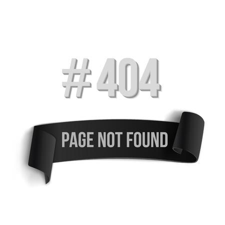 alert ribbon: Illustration of Error 404 Ribbon Banner