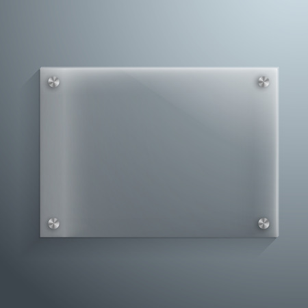 Illustration of Realistic Vector Glass Plate Template Icon.