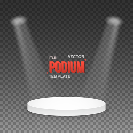 stage lights: Illustration of Illustration of Photorealistic Winner Podium Stage with Stage Lights Isolated on Transparent Overlay Background. Used for Product Placement, Presentations, Contests