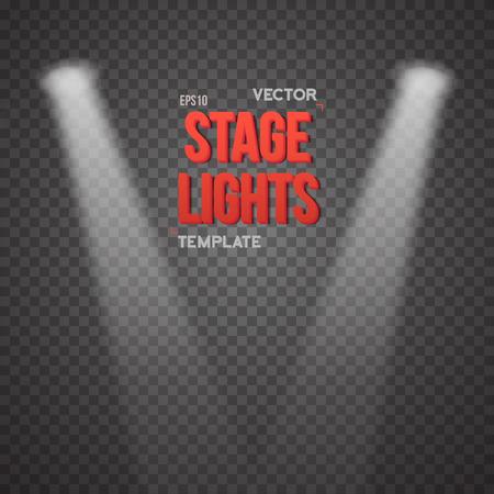 illuminating: Illustration of Stage Light Effect. Bright Stage Light Illuminating Podium. Transparent Studio Stage Light Effect on Transparent Overlay Background Illustration