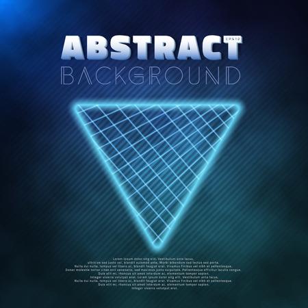 tron: Illustration of Neon Poster Template Retro Disco 80s Background.