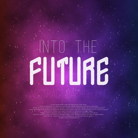 retro future: Illustration of Into The Future Abstract 1980s Style Background. Neon Poster Retro Disco 80s Background