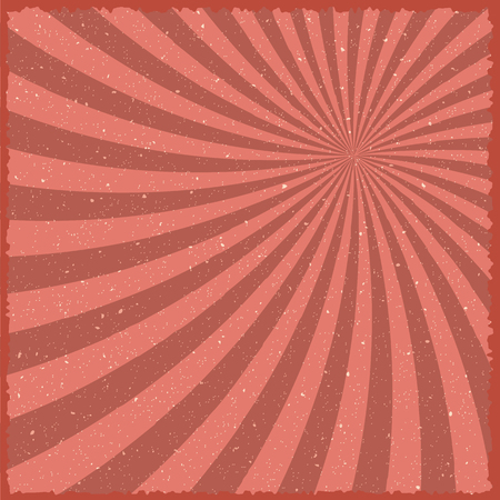 show bussiness: Illustration of Vintage Carnival Circus Background. Retro Style Carnival Festival Sunburst Effect Template Illustration