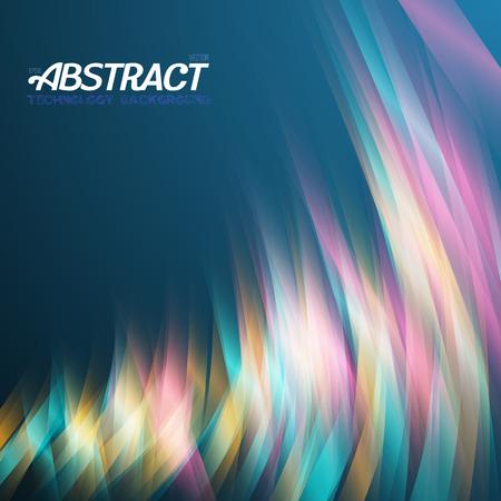 light streaks: Illustration of Abstract Lightpainting Vector Background. Digital Caligraphy Light Streaks. Vector Neon Disco Light Waves Template