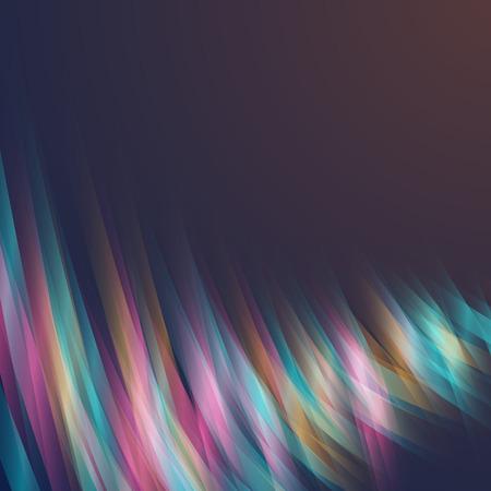 light streaks: Illustration of Abstract Lightpainting Vector Background. Digital Caligraphy Light Streaks. Neon Disco Light Waves Template