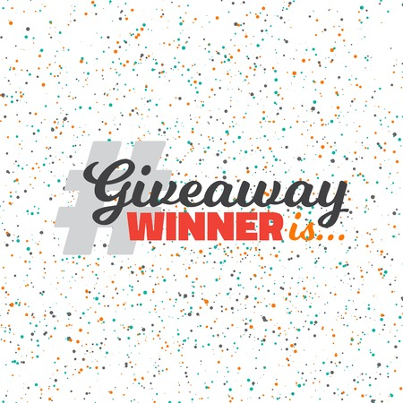 giveaway: Illustration of Colorful Confetti Effect. Glittering Confetti Giveaway Competition Template. Enter to Win Prize Concept
