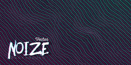 Illustration of Digital Noize Glitch Lines Background. Music Signal Wave Distortion Template Illustration