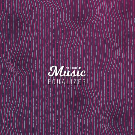 display problem: Illustration of Music Equalizer Digital Glitch Effect. Distorted Sound Waves. Music Audio Signal Frequency Noise