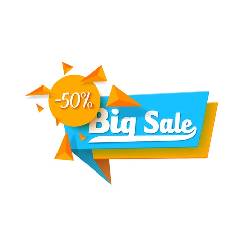 Illustration of  Sale  Template. Big Sale Sticker Isolated