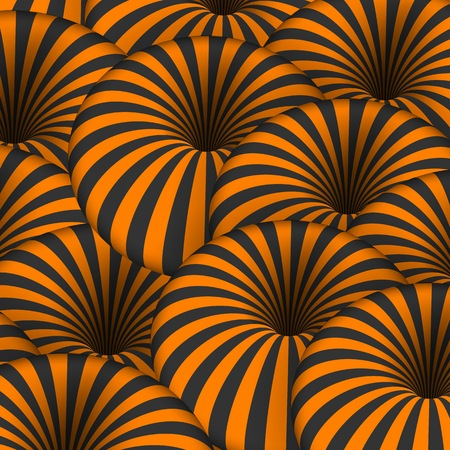 Illustration of Vector Optical Illusion. Spiral Tunnel Hole Effect. Striped 3D Motion Lines