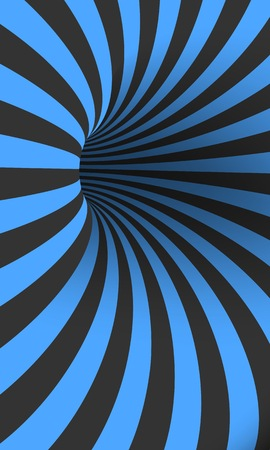 Illustration of Tunnel Template. Optical Illusion Curved Vortex Hole