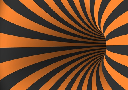 Illustration of Spiral Optical Illusion Template. Spiral Twisted Vortex Tunnel Shape Illustration