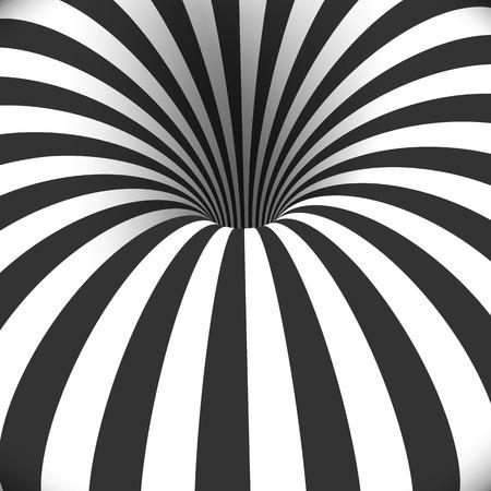 トンネル テンプレートのイラスト。目の錯覚曲がり渦穴