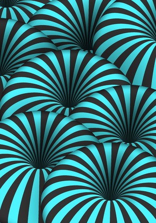 Illustration of Optical Illusion. Spiral Tunnel Hole Effect. Striped 3D Motion Lines