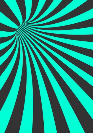 Illustration of Vector Spiral Tunnel Illusion. Vortex Motion Striped Tunnel Background