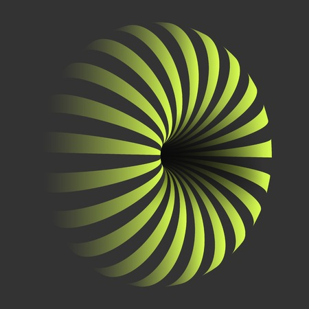 Illustration of Spiral Optical Illusion Template. Spiral Twisted Vortex Bagel Shape Illustration