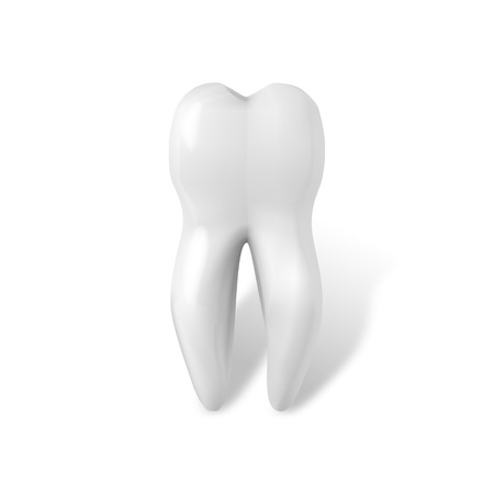 Illustration of Tooth Icon. Realistic Teeth Isolated on White Background Illustration
