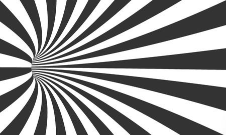 Illustration of Spiral Tunnel Illusion. Vortex Motion Striped Tunnel Background