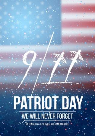 Illustration of Patriot Day Poster.